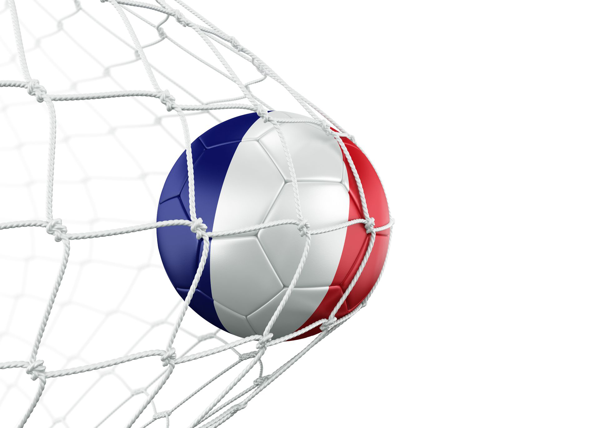 French soccer ball in net
